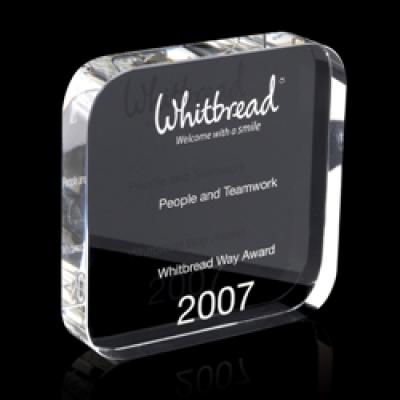 Image of Optical Crystal Square Award