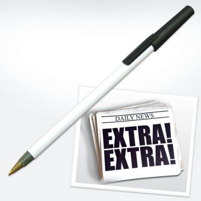 Image of Recycled Newspaper Pen With Lid
