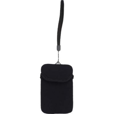 Image of Neoprene mobile phone pouch with wrist strap