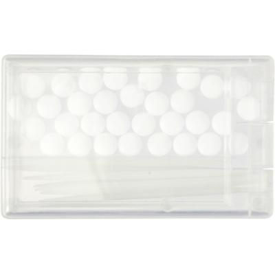 Image of Plastic mint card with sugar free mints and toothpicks