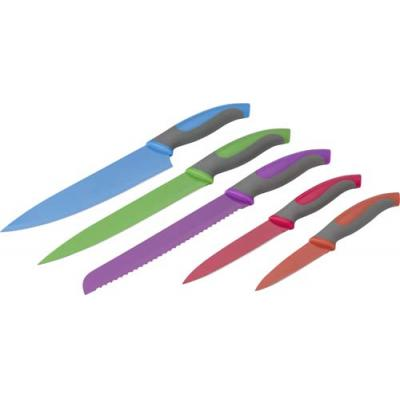 Image of Set of 5 coloured kitchen knives