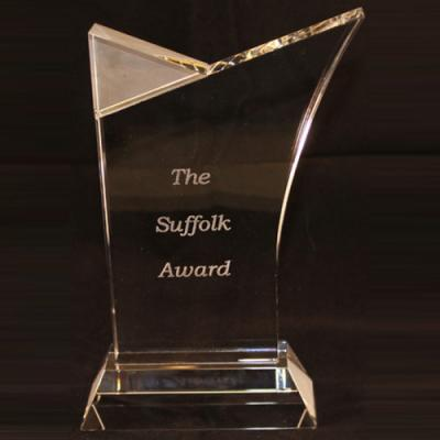 Image of MEDIUM SUFFOLK CRYSTAL AWARD