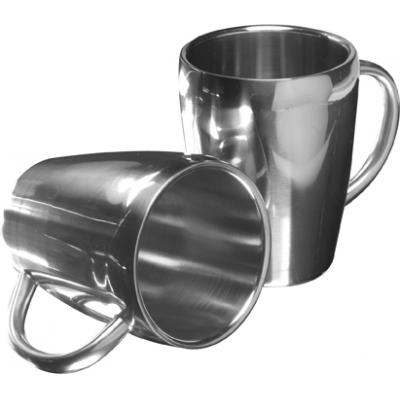 Image of Set of two steel mugs