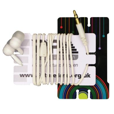 Image of Plastic Earphone Winder Cards
