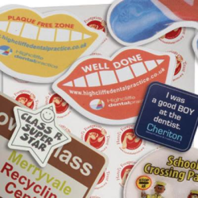 Image of Vinyl Stickers Cut from 9sq cm