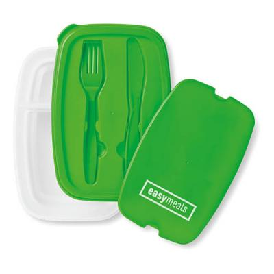 Image of Lunch box with cutlery set