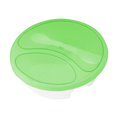 Image of Plastic round salad box.