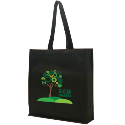 Image of Black Non Woven Poypropylene Carrier Bag