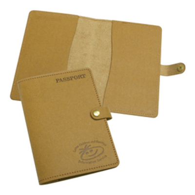 Image of Eco Natural Leather Passport Wallet