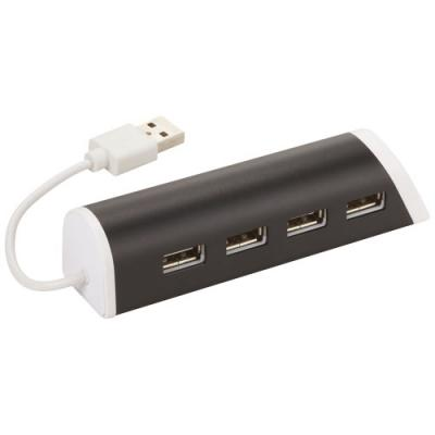 Image of Aluminium 4-Ports USB Hub and Phone Stand