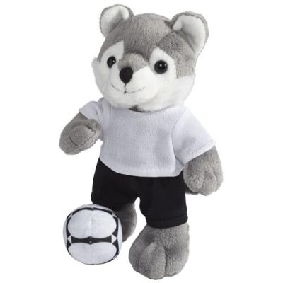 Image of Dribble wolf plush with shirt