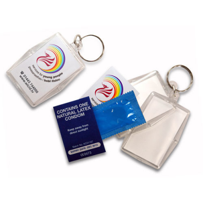Image of Acrylic Condom Keyrings